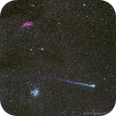 Comet Lovejoy with the Pleiades and California Nebula,                                SmackAstro