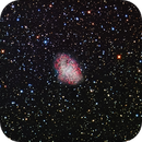 M001 or NGC1952 (The Crab Nebula) in constellation Taurus done in LRGB,                                Christopher Abissi