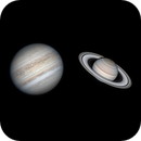 Jupiter and Saturn on 8/8/2020,                                Michael Wong