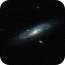 M31 Andromeda galaxy & M110 galaxy,                                Dmitri Gostev