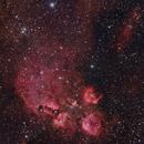 Cat's Paw (NGC6334) - lrgb,                                Rodney Watters