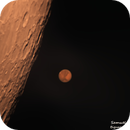 Moon and Mars conjunction - Original color, affected by Amazon fires,                                Samuel Müller