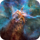 """""""Mystic Mountain"""" - HH 910/902, Hubble Space Telescope,                                Rudy Pohl"""