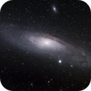 Andromeda (M31) and satellite (M32 and M110) galaxies,                                Stijn