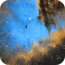 NGC 281, The Pacman Nebula - HST color palette,                                Brice