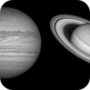Jupiter and Saturn with R filter,                                Vincenzo della Ve...