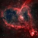 Heart Nebula in HOO,                                Shivam Bansal