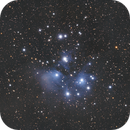 """Messier 45 """"the seven sisters"""" amas ouvert des Pleiades,                                Camille COLOMB"""