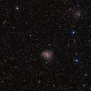 NGC 6946 & 6939 : The Firework galaxy & an open cluster in Cepheus - Ha RGB,                                Daniel.P