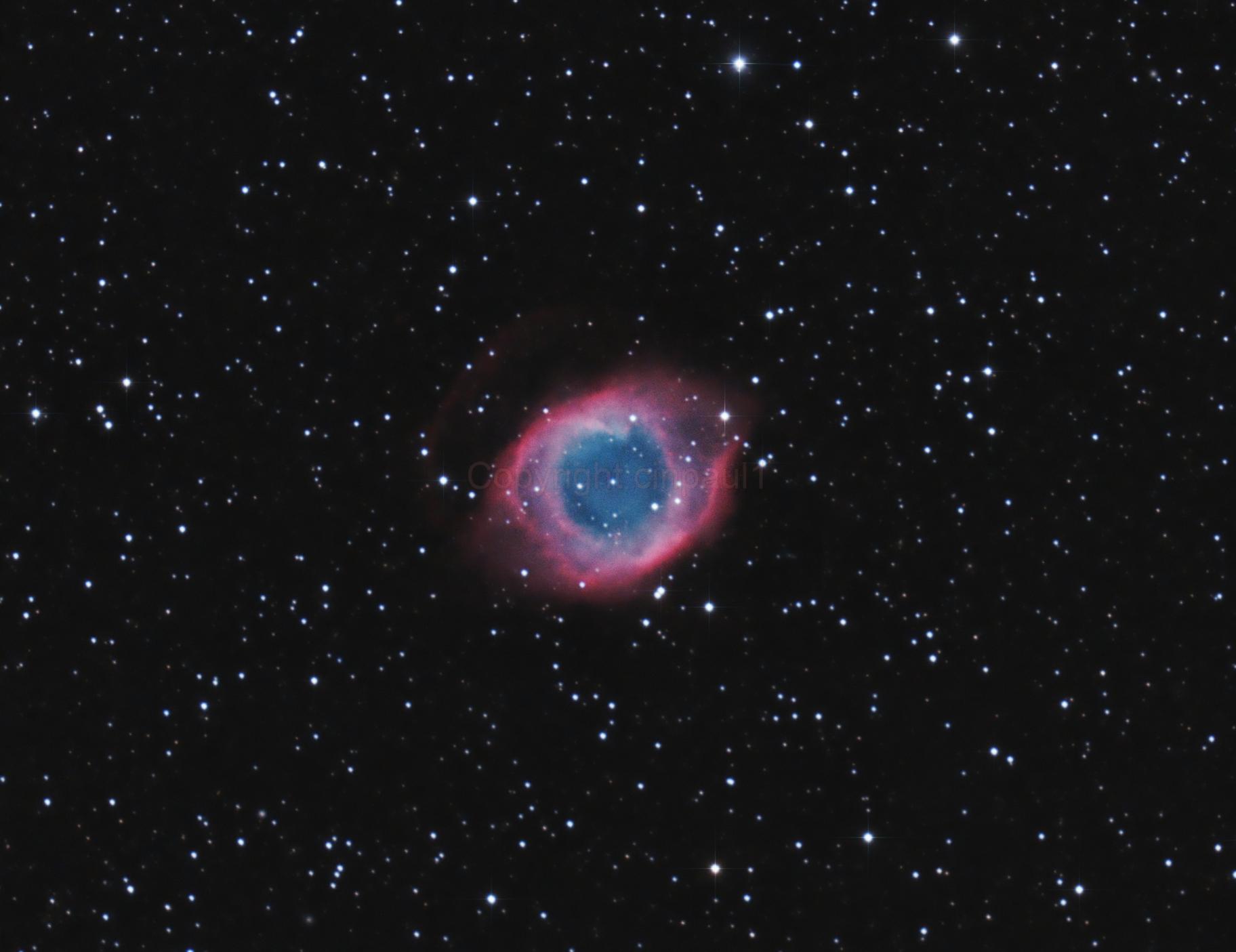 Helix nebula ngc 7293,                                Paul May