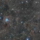 Iris Nebula NGC7023 and Gyulbudaghian's Nebula LBN468,                                Carastro