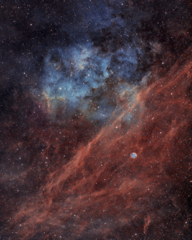 Sh2-115 and Abell 71,                                Nico Carver