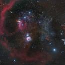 Orion B33 M42 et la nébuleuse de la sorcière,                                transfiguration