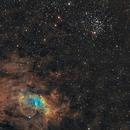 Nébuleuse de la bulle (NGC 7635) et l'amas M52 - Sadr Espagne,                                Julien Bourdette