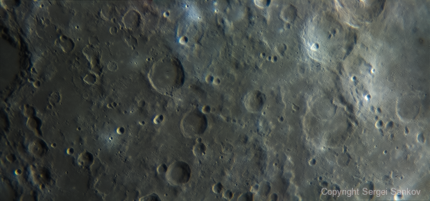 Moon. Craters Abulfeda, Almanon, Geber.,                                Sergei Sankov