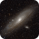 Galactic neighbours: Andromeda galaxy M31 with  M32 and M110,                                Doc_HighCo