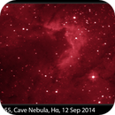 Sh2-155, Cave Nebula, Hα, 12 Sep 2014,                                David Dearden