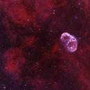 Crescent Nebula and Soap Bubble (NGC 6888)  - RGB HO,                                Johannes Schiehsl
