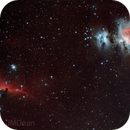 Orion Nebula, Horsehead Nebula and Flame nebula,                                JMDean