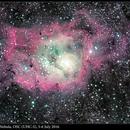 M8, Lagoon Nebula, OSC (UHC-S), 5-6 Jul 2016,                                David Dearden