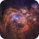 NGC6357 - War and Peace Nebula SHO - RGB Stars,                                Janco