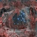 ngc 2239 HOO Rosetta nebula,                                Chassaigne