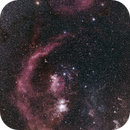 Orion Wide Field(2 frames mosaic),                                Hideki