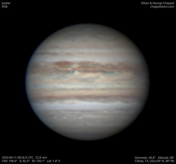 Jupiter June 11, 2020,                                Chappel Astro
