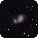M51: Whirlpool Galaxy, my first ever SCT 8 image!,                                Gowri Visweswaran