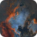 NGC7000 and IC5070 in bicolour,                                Sara Wager