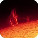 Sun H Alpha on 2021-04-25 09:30 UTC,                                Ruediger