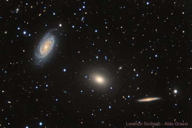 NGC 5981 - 5982 - 5985 - Draco triplet,                                Lorenzo Siciliano
