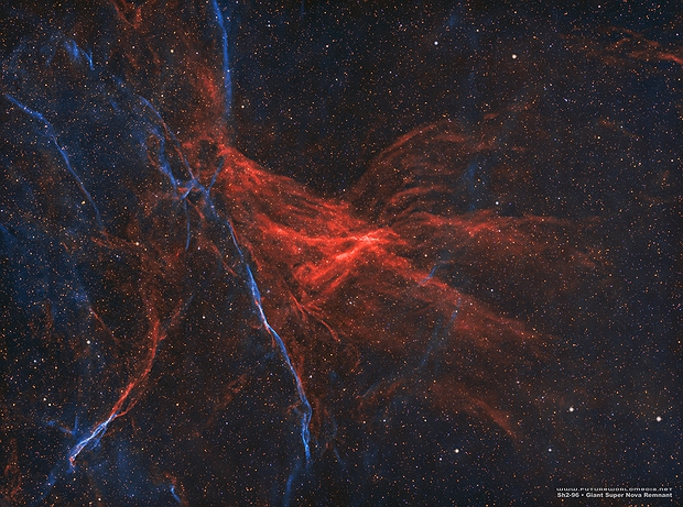 Sh2-96 • Giant Super Nova Remnant in HOO,                                Douglas J Struble