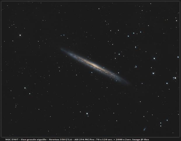 NGC 5907 - Une jolie aiguille.,                                Jeffbax Velocicaptor