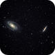 The Bode's (M81) and The Cigar (M82)  galaxies,                                Nikas