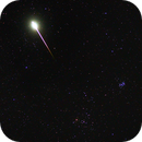 Meteor and M45,                                Rabbit Zhang