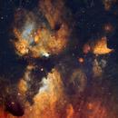 NGC 6334 - Cat's Paw Nebula closeup,                                remidone