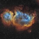 IC 1848, The Soul Nebula - Narrowband Bicolor (Ha/OIII),                                Nicolas Kizilian