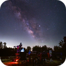 milkyway -telescope and bicycle,                                pedro lozano