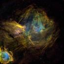 Gum 30 and Gabriella Mistral Nebulae Reworked,                                John Ebersole