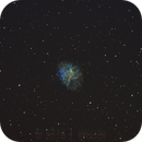 M1 Crab Nebula -- First Modified Hubble Palette,                                ADBjester