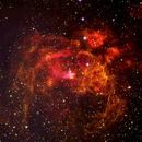 Lobster Nebula NGC 6357 in Narrowband,                                DavidLJ