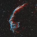 NGC 6992 and NGC 6995 The Eastern Veil Nebula in Narrowband HOO,                                Eshan Toorabally