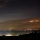 Stars, Clouds, Mountains, Lightning, Lightpollution,                                Donnie Barnett