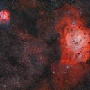 Lagoon and Trifid Nebula,                                Alberto Pisabarro