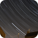 Star Trail with Venus from my garden,                                Vlaams59