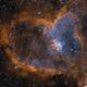 IC1805(Heart Nebula) in HSO Narrow Band,                                Maojin