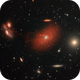 Markarian's Chain with H-alpha emission of collided galaxies,                                Patrick Dufour