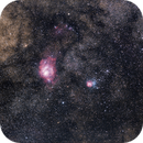 M8 and M20 with 200mm lens - Bortle 6.,                                Marcelo Alves