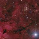 Open Cluster NGC 6910 embedded in nebula region,                                Herbert_W